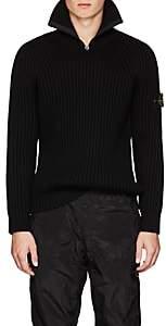 Stone Island Men's Wool Half-Zip Sweater-Black