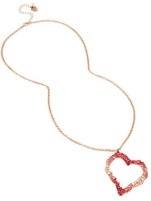 Betsey Johnson Tonal Open Heart Pendant Necklace