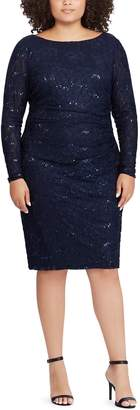 Chaps Plus Size Sequin Lace Sheath Dress