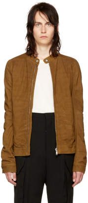 Rick Owens Tan Leather Ricks Jacket