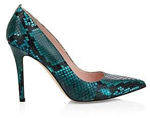 Sarah Jessica Parker Women's Fawn Python-Embossed Leather Pumps