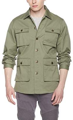 Co Quality Durables Men's Stretch Canvas Shirt Jacket Olive XXL