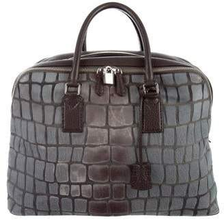 Fendi Ponyhair Leather-Trimmed Weekender