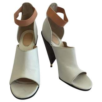 Givenchy White Leather Heels