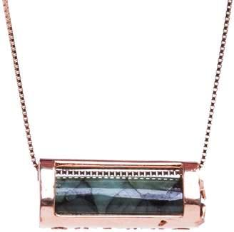 Conges Rebirth & Abundance Emerald Barrel Necklace