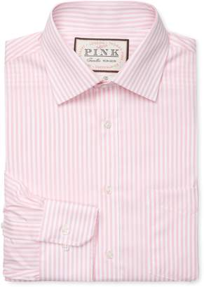 Thomas Pink Men's Brookland Stripe Classic Fit Traveler Dress Shirt