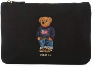 Polo Ralph Lauren Polo Bear Canvas Zip Pouch