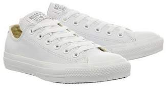 At Top Converse All Star Low Leather Trainers By Supplied Office