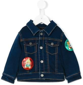 Moschino Kids bear patches denim jacket
