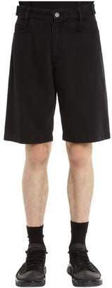 Raf Simons Cotton Denim Shorts