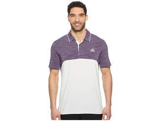 adidas Ultimate Heather Blocked Polo Men's Clothing