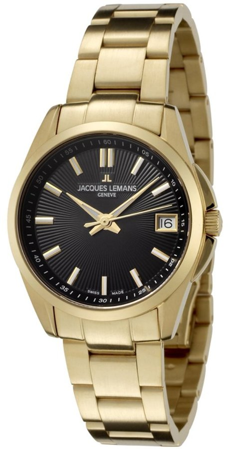 Jacques Lemans Women's GU190J Geneve Collection Tempora Gold Ion-Plated Stainless Steel Watch