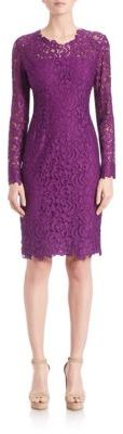 Elie Tahari Bellamy Lace Embroidered Dress $498 thestylecure.com