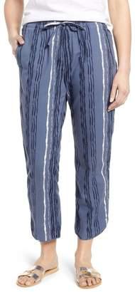Caslon Print Drawstring Pants (Regular & Petite)