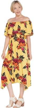 Du Jour Off-the- Shoulder Floral Printed Knit Dress