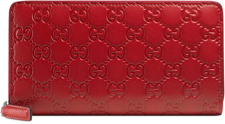 GucciGucci Signature zip around wallet
