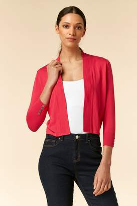 99a408f06fe WallisWallis Pink Fitted Cropped Shrug
