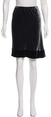 Dosa Velvet Knee-Length Skirt