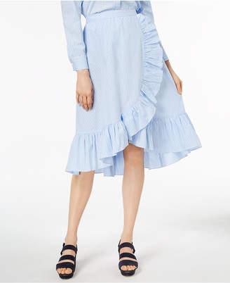 Jill Stuart Ruffled Faux-Wrap Midi Skirt, Created for Macy's