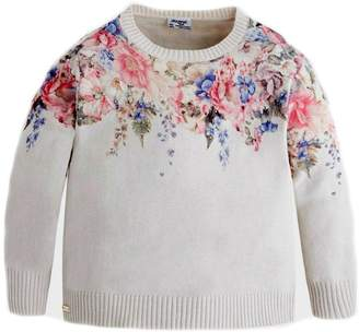 Mayoral Girls Floral Sweater