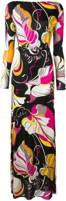 Emilio Pucci Frida Print Long Silk Dress