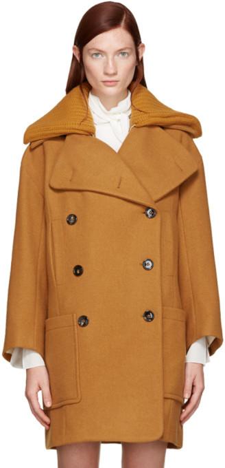 Chloé Chloé Orange Wool Iconic Coat
