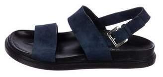 CNC Costume National Suede Multistrap Sandals