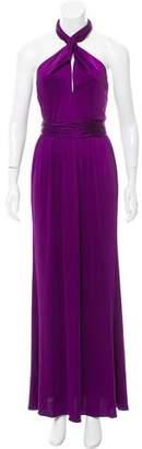 Halston Halter Evening Dress