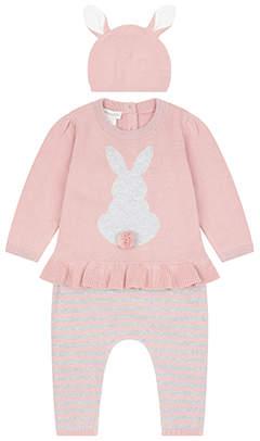 Monsoon Newborn Baby 3 Piece Bunny Knitted Set