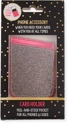 Tricoastal Design Tri Coastal Design Multicolor Glitter Card Holder Phone Sticker, Pink