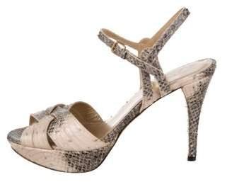 Stuart Weitzman Embossed Platform Sandals