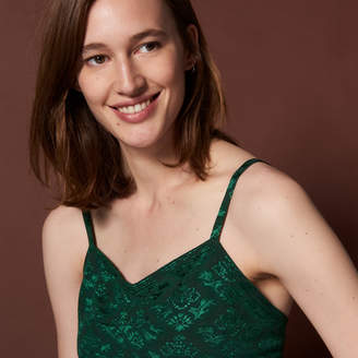 Sandro Jacquard crop top with thin straps