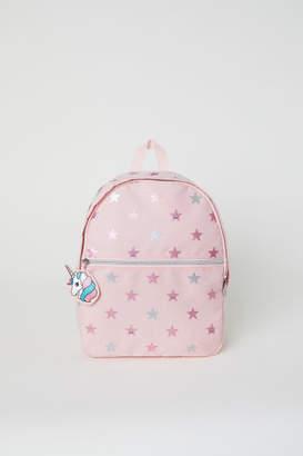 H&M Patterned Backpack - Pink