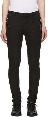 Balmain Black Slim Trousers $820 thestylecure.com