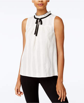 kensie Ruffle-Trim Babydoll Top $69 thestylecure.com