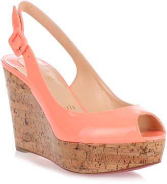 Christian Louboutin Une Plume flamingo wedge sandal