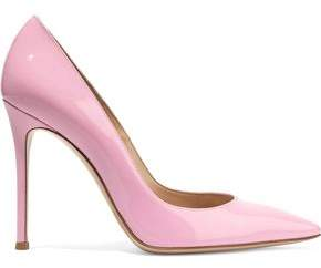 Gianvito Rossi Ellipsis Patent-Leather Pumps