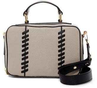 Milly Astor Whipstitch Leather Small Satchel