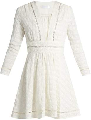 ZIMMERMANN Ryker embroidered-cotton and silk-blend dress $494 thestylecure.com