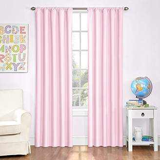 Eclipse Kids 13303042X084PNK Microfiber 42-Inch by 84-Inch Room Darkening Single Window Curtain Panel