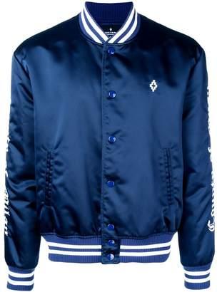 Marcelo Burlon County of Milan logo embroidered bomber jacket
