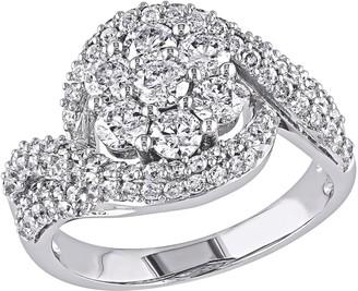 Affinity Diamond Jewelry Affinity 2 cttw Diamond Floral Swirl Ring, 14K