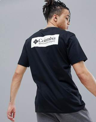 Columbia Back Logo Print T-Shirt In Black/White