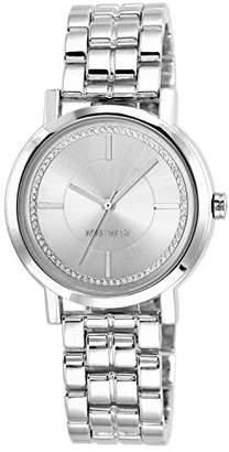 Nine West Women's Glitter-Accented -Tone Bracelet Watch