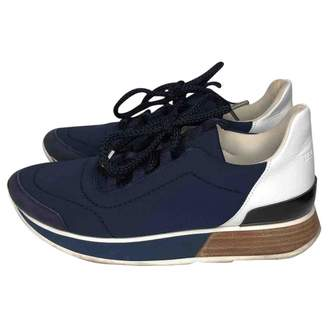 Hermes Miles Navy Cloth Trainers