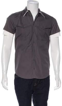 Dolce & Gabbana Dual Collar Button-Up Shirt