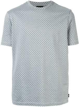 Emporio Armani jacquard motif T-shirt