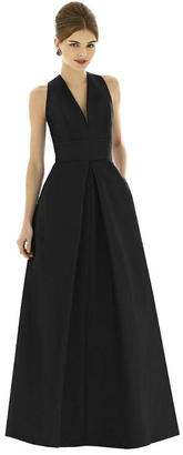 Alfred Sung - D611 Bridesmaid Dress In Black $277 thestylecure.com