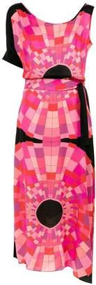 AMIR SLAMA asymmetric printed dress