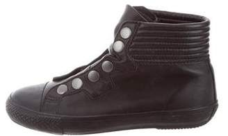Ash Round-Toe High-Top Sneakers w/ Tags